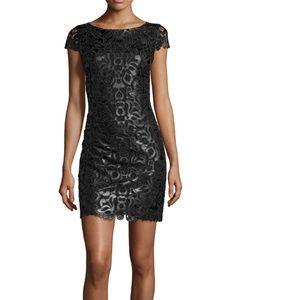Alice + Olivia  Faux Leather Sheath Dress